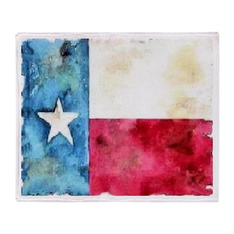 TEXAS FLAG Throw Blanket front and back