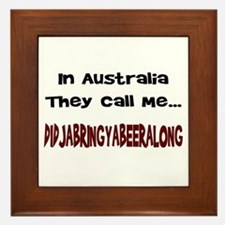 Australian Beer Joke Framed Tile