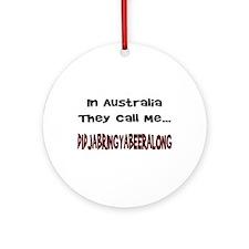 Australian Beer Joke Ornament (Round)