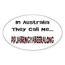 Australian Beer Joke Oval Decal