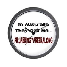 Australian Beer Joke Wall Clock