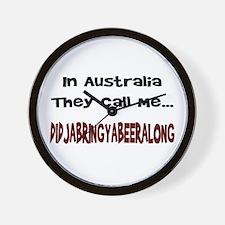Australian Beer Joke Wall Clock