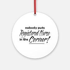 RN Nobody Corner Ornament (Round)