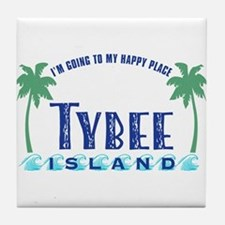 Tybee Happy Place - Tile Coaster