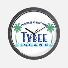 Tybee Happy Place - Wall Clock