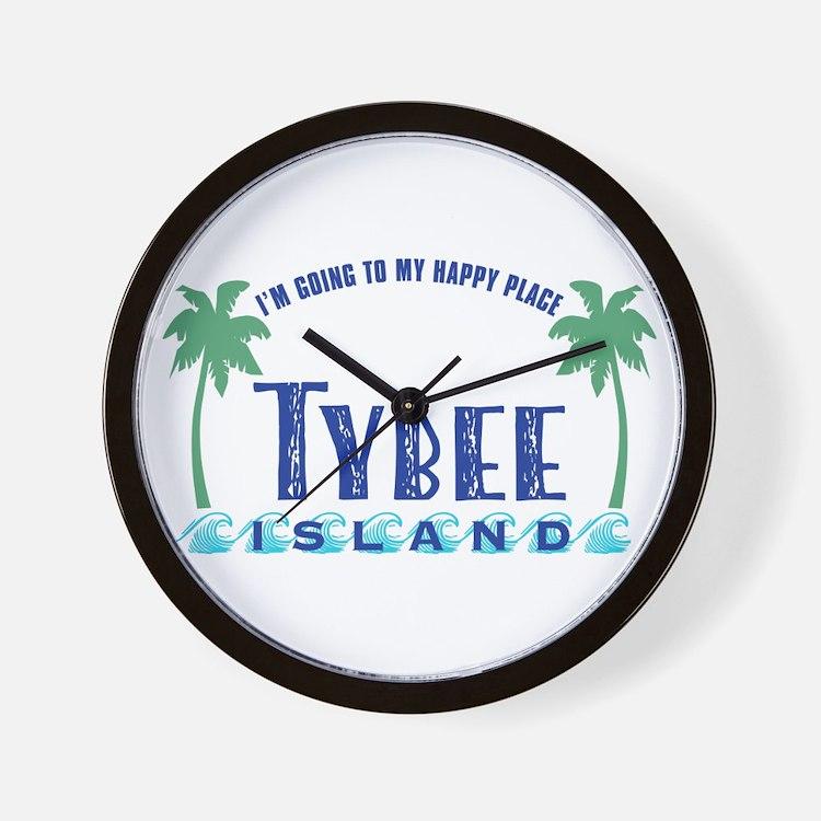 Tybee Happy Place - Wall Clock