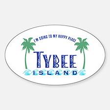 Tybee Happy Place - Bumper Stickers