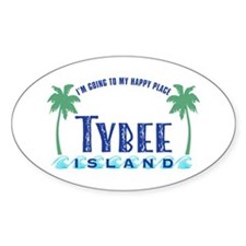 Tybee Happy Place - Decal