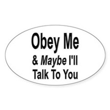 Obey Me 2 Oval Decal