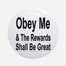 Obey Me Ornament (Round)