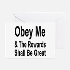 Obey Me Greeting Cards (Pk of 10)