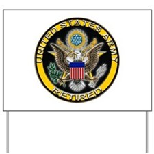 US Army Retired Eagle Yard Sign