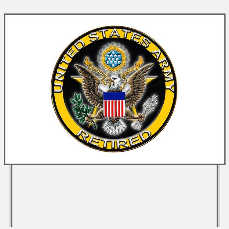 US Army Retired Eagle Yard Sign