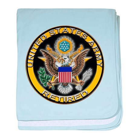 US Army Retired Eagle baby blanket
