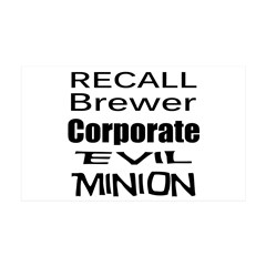 Recall Governor Brewer 38.5 x 24.5 Wall Peel