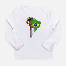 South America Flag Map Long Sleeve Infant T-Shirt