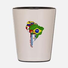 South America Flag Map Shot Glass