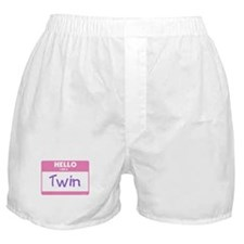 Hello I am a Twin pink Boxer Shorts