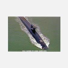 USS CASIMIR PULASKI Rectangle Magnet