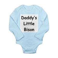 Daddy's Little Bison Long Sleeve Infant Bodysuit