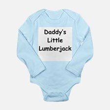 Daddy's Little Lumberjack Long Sleeve Infant Bodys