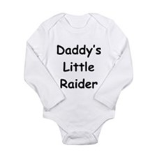 Daddy's Little Raider Long Sleeve Infant Bodysuit