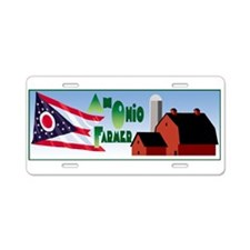 Farmer Aluminum License Plate