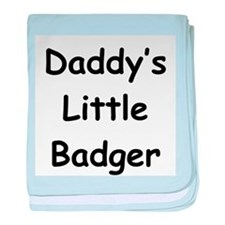 Daddy's Little Badger baby blanket