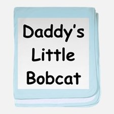 Daddy's Little Bobcat baby blanket