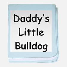 Daddy's Little Bulldog baby blanket