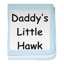 Daddy's Little Hawk baby blanket