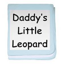 Daddy's Little Leopard baby blanket