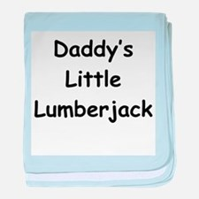 Daddy's Little Lumberjack baby blanket
