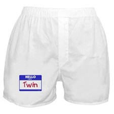 Hello I am a Twin blue Boxer Shorts