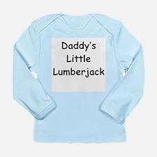 Daddy's Little Lumberjack Long Sleeve Infant T-Shi