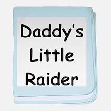 Daddy's Little Raider baby blanket