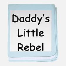 Daddy's Little Rebel baby blanket