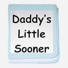 Daddy's Little Sooner baby blanket
