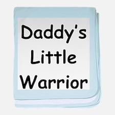 Daddy's Little Warrior baby blanket