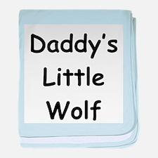 Daddy's Little Wolf baby blanket