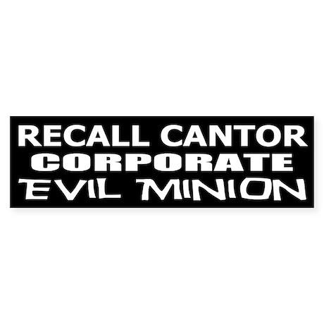 Recall Eric Cantor Sticker (Bumper)