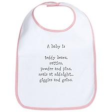 """""""A baby is"""" Bib"""