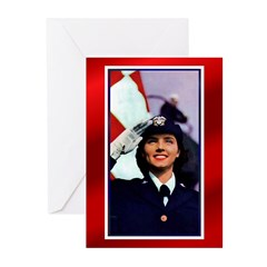 U.S.Navy Woman 1 Greeting Cards (Pk of 10)