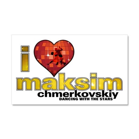 I Heart Maksim Chmerkovskiy Car Magnet 12 x 20