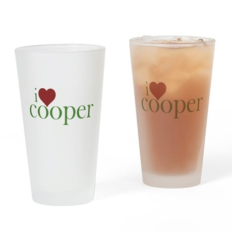 I Heart Cooper Pint Glass