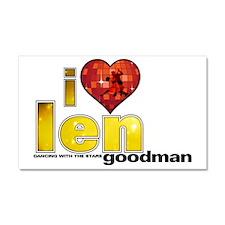 I Heart Len Goodman Car Magnet 20 x 12