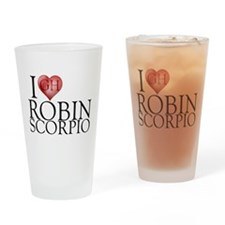 I Heart Robin Scorpio Pint Glass