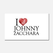 I Heart Johnny Zacchara Car Magnet 12 x 20