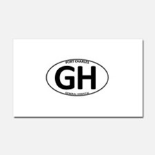 General Hospital - GH Oval Car Magnet 12 x 20