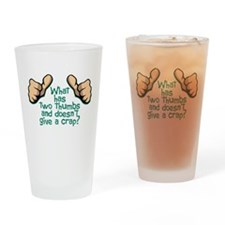 Two Thumbs Pint Glass